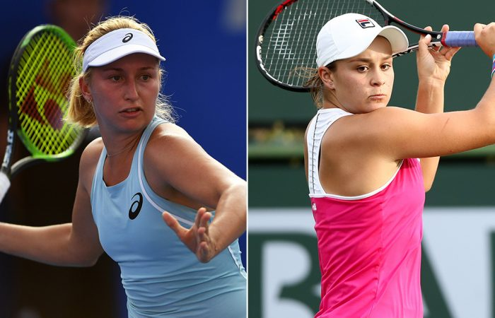 Daria Gavrilova (L) and Ash Barty are in action this week; Getty Images