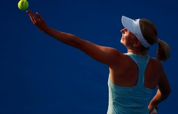 Daria Gavrilova in action at the WTA event in Acapulco; Getty Images