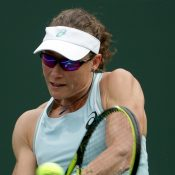 Sam Stosur in action at Indian Wells; Getty Images