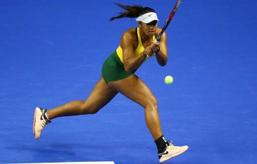 Destanee Aiava in action during Fed Cup in Wollongong; Getty Images