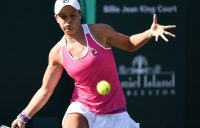 Ash Barty in action at the WTA event in Charleston (photo credit Chris Smith/Volvo Car Open)