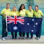 The Australian Fed Cup team of (L-R) Alicia Molik, Daria Gavrilova, Destanee Aiava, Ash Barty and Sam Stosur in Wollongong for the World Group Play-off tie against the Netherlands; Getty Images