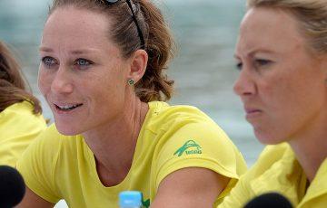BRISBANE, AUSTRALIA - APRIL 15:  Samantha Stosur speaks during the Fed Cup press conference at Southbank on April 15, 2016 in Brisbane, Australia.  (Photo by Bradley Kanaris/Getty Images)