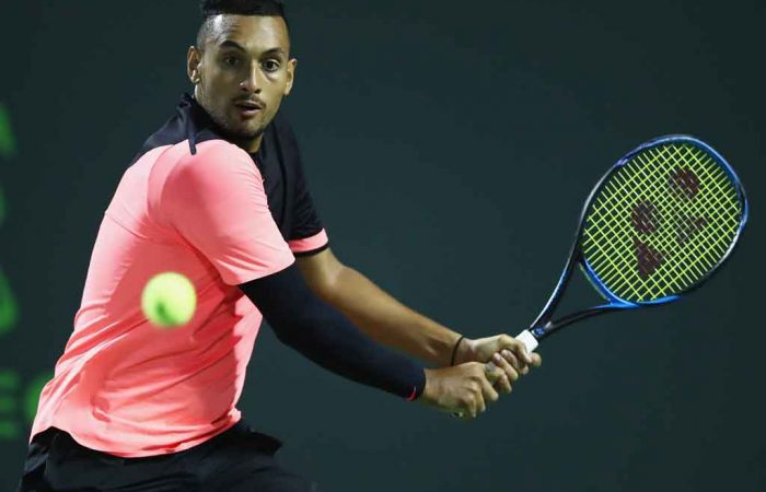 Nick Kyrgios exited in three sets at the US Men's Claycourt Championships; Getty Images
