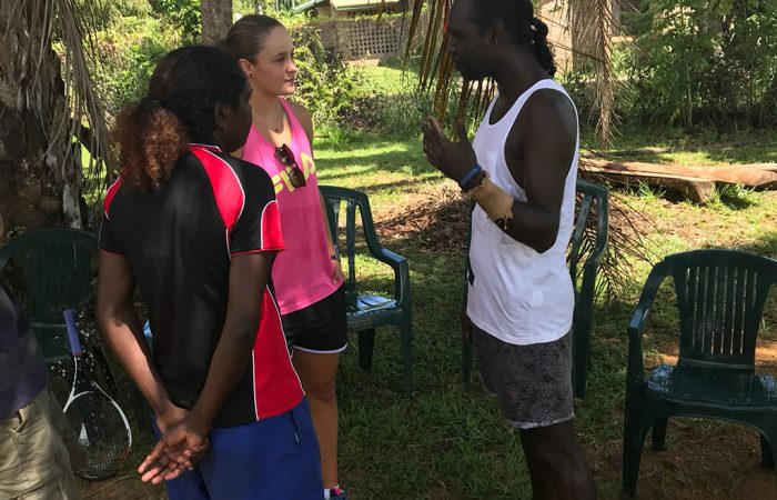 Ash Barty is welcomed to the Tiwi Islands