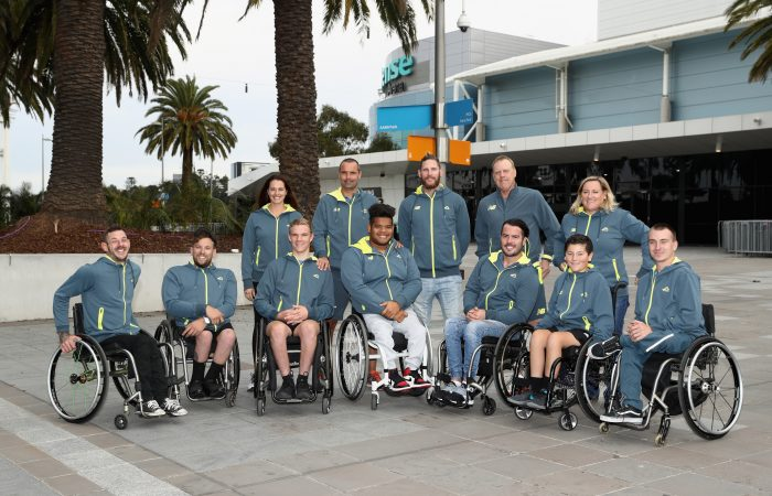 MELBOURNE, AUSTRALIA - MAY 02:  World Cup Team members pose during the Tennis Australia World Cup Team Shoot on May 2, 2018 in Melbourne, Australia.  (Photo by Robert Cianflone/Getty Images)