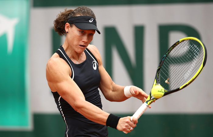IMPRESSIVE START:  Sam Stosur is into the French Open second round after beating Belgium's Yanina Wickmayer; Getty Images