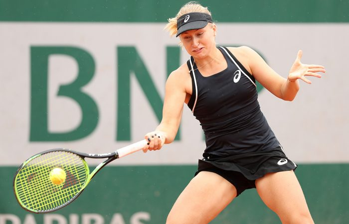 FIGHTING SPIRIT:  Daria Gavrilova was forced to dig deep to beat Sorana Cirstea in the first round of Roland Garros 2018; Getty Images