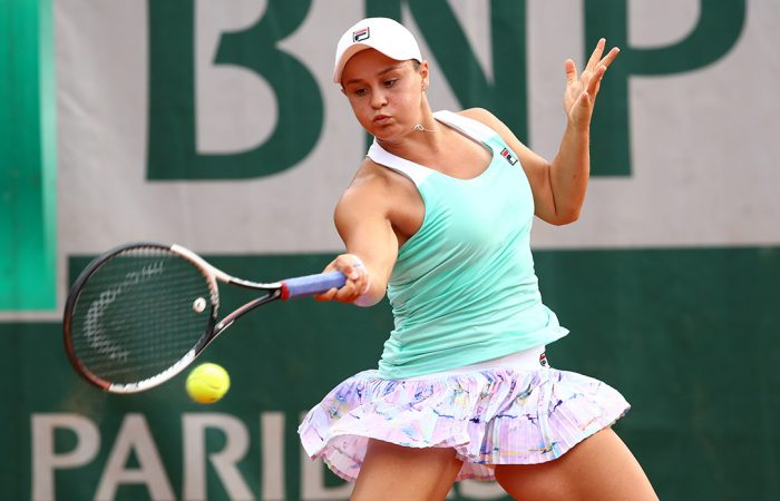 IN FORM: Ash Barty impressed in a first round Roland Garros singles win; Getty Images