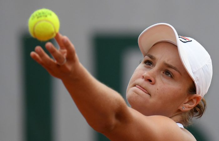 FOCUSED: Australia's Ash Barty is ready to serve it up to Serena Williams; Getty Images