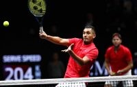 Nick Kyrgios teamed with Jack Sock for his first career title in doubles; Getty Images
