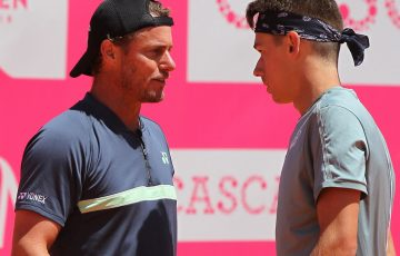 Lleyton Hewitt and Alex de Minaur (Photo: Millennium Estoril Open)