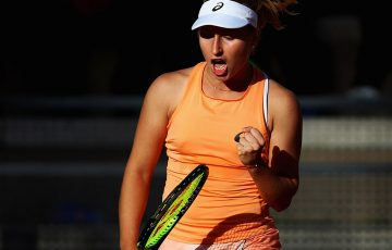 Daria Gavrilova in action in Rome; Getty Images