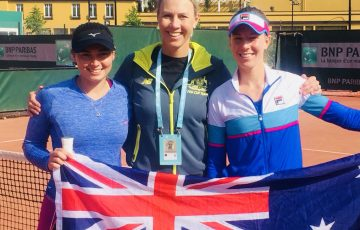 Isabelle Wallace, Alicia Molik and Olivia Rogowska