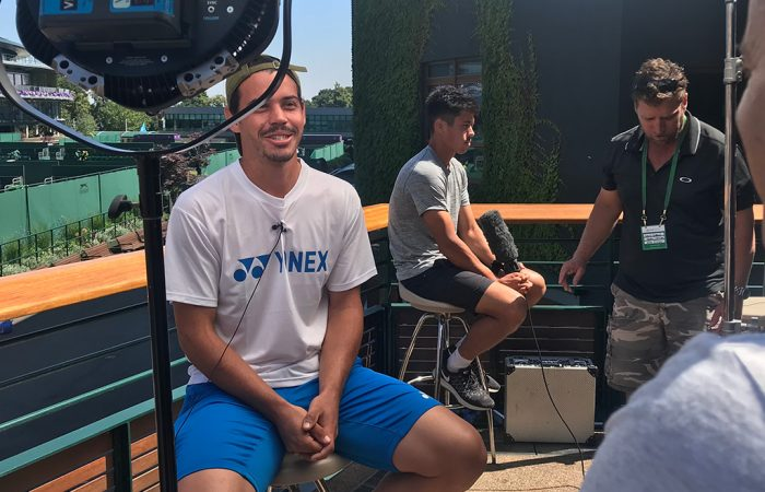 Alex Bolt chats to the Australian media ahead of the 2018 Wimbledon championships; Tennis Australia
