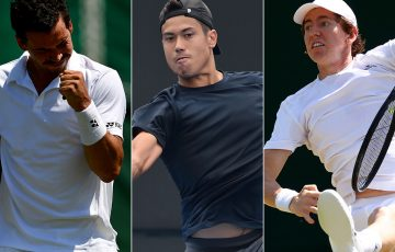 (L-R) Alex Bolt, Jason Kubler and John-Patrick Smith have qualified for Wimbledon in 2018; Getty Images