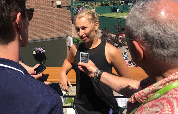 Daria Gavrilova chats to the Australian media ahead of the 2018 Wimbledon championships; Tennis Australia