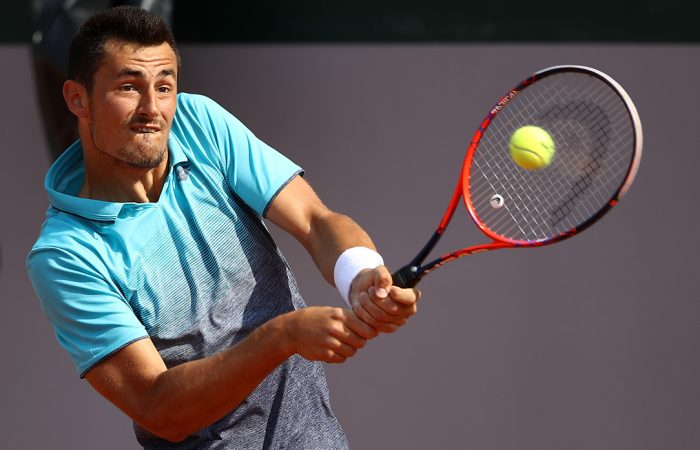 FINDING FORM: Bernard Tomic is into his first ATP quarterfinal in almost a year; Getty Images