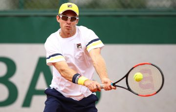 FOCUSED: John Peers in action during a French Open second round men's doubles win; Getty Images