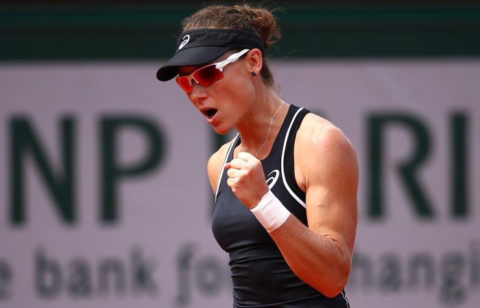 FIRED UP: Sam Stosur begins her grass season in Nottingham this week; Getty Images