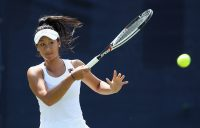 ON THE MOVE: Priscilla Hon in action at Surbiton last week; Getty Images