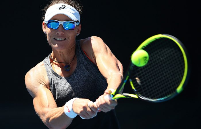 Sam Stosur practises; Getty Images
