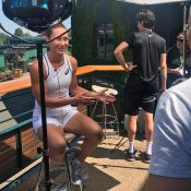 Sam Stosur chats to the Australian media ahead of the 2018 Wimbledon championships; Tennis Australia