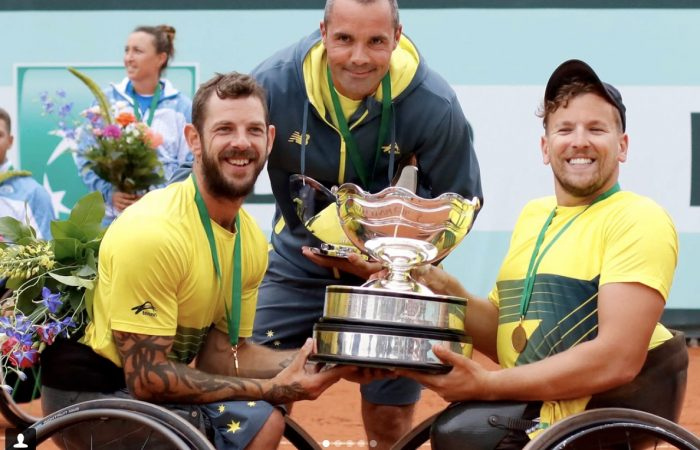 Heath Davidson and Dylan Alcott; ITF image