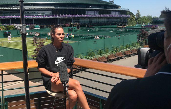 Ajla Tomljanovic speaks to the media at Wimbledon; Tennis Australia