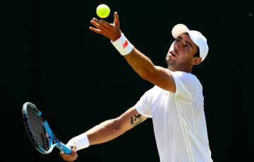 ON SERVE: Jordan Thompson is into the second round of the ATP event in Newport; Getty Images