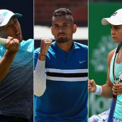 (L-R) John Millman, Nick Kyrgios and Ash Barty; Getty Images
