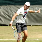 Matt Ebden practises at Wimbledon; Getty Images