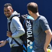 Nick Kyrgios (L) and Andy Murray at Queen's Club; Getty Images