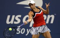 Ash Barty in action during her second-round win over Lucie Safarova at the US Open; Getty Images