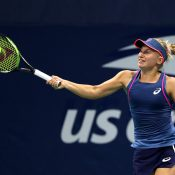 Daria Gavrilova in action during her thumping first-round win over Sara Sorribes Tormo at the US Open; Getty Images