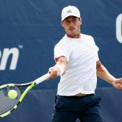 Jason Kubler in action during his first-round win over 19th seed Roberto Bautista Agut at the US Open; Getty Images