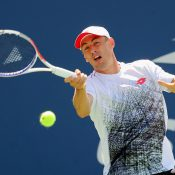 John Millman in action during his second-round win over Fabio Fognini at the US Open; Getty Images
