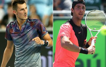 Bernard Tomic (L) and Thanasi Kokkinakis; Getty Images