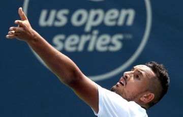 Nick Kyrgios in action at the Cincinnati Masters; Getty Images