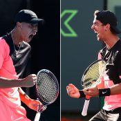 Alexei Popyrin (L) and Thanasi Kokkinakis won the Jinan and Aptos Challenger titles respectively; Getty Images