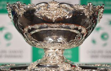 The Davis Cup trophy ; Getty Images
