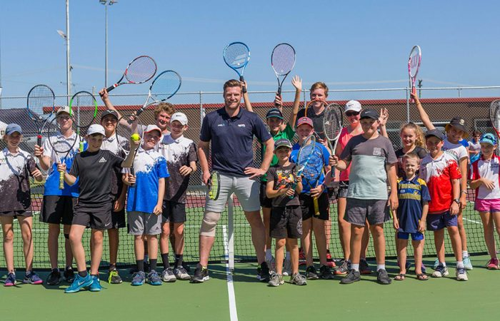 Sam Groth paid a special visit to the Proserpine District Lawn Tennis Association