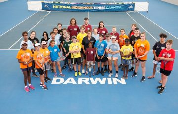 DARWIN, AUSTRALIA - SEPTEMBER 06:  during day X of the National Indigenous Tennis Carnival at Darwin International Tennis Centre on September 6, 2018 in Darwin, Australia.  (Photo by Darrian Traynor/Getty Images)