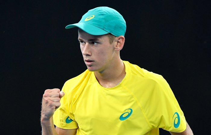 Alex De Minaur in Davis Cup action; Getty Images