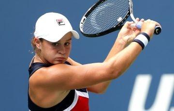 Ash Barty in action at the US Open; Getty Images