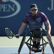 Dylan Alcott at the US Open; Getty Images