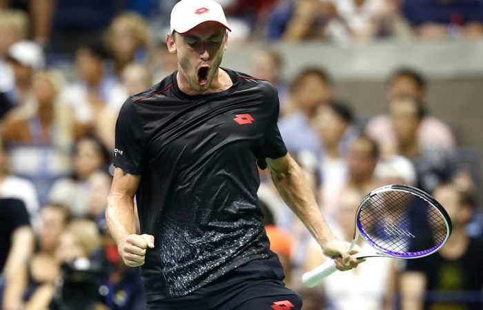 John Millman defeated Roger Federer in the fourth round at the US Open to reach his first Grand Slam quarterfinal; Getty Images