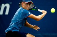 NEW YORK, NY - AUGUST 28: Alex De Minaur of Australia returns the ball during his men's singles first round match against Taro Daniel of Japan on Day Two of the 2018 US Open at the USTA Billie Jean King National Tennis Center on August 28, 2018 in the Flushing neighborhood of the Queens borough of New York City. (Photo by Julian Finney/Getty Images)