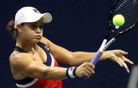 NEW YORK, NY - AUGUST 31: Ashleigh Barty of Australia returns the ball during her women's singles third round match against Karolina Muchova of Czech Republic on Day Five of the 2018 US Open at the USTA Billie Jean King National Tennis Center on August 31, 2018 in the Flushing neighborhood of the Queens borough of New York City. (Photo by Matthew Stockman/Getty Images)