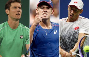 (L-R) Matt Ebden, Alex De Minaur and John Millman will play the ATP tournament in Stockholm this week; Getty Images